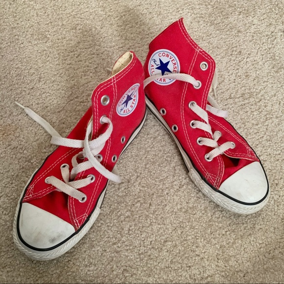Converse Shoes | Kids Red Chuck Taylors